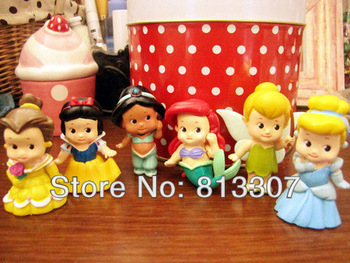 High Quality PVC White Snow Princess Tinkerbell Figures Doll toy  Collection Figure Toys Free Shipping 5Sets/Lot