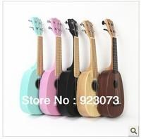 free shipping Pineapple type small spruce wood ukulele Hawaiian guitar / Hawaiian ukulele Type of pineapple