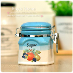 Ceramic sealed cans storage jar snacks tank dessert tank cookie jar(China (Mainland))