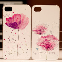 Colored drawing flower for iphone wishing 4s protective case female new arrival ultra-thin 4 for apple phone case