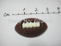 Free shipping FOOTBALL resin decoration bead flatback appliques 150pcs/lot