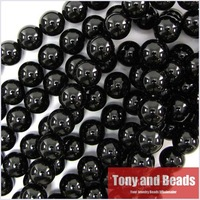 120pcs/Lot 10MM Nature Gemstone Black Onyx Agate Stone Beads for Jewelry Making Free shipping