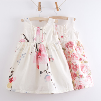 free shipping!print girls dress,pure cotton girls sundress,flower girls dresses,children dress