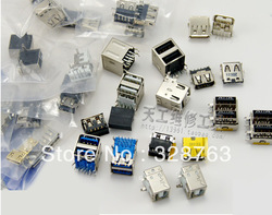 Sample package:Mix 20 pairs,Original New Laptop USB Jack,40pcs/lot,2pcs each model Laptop repair parts(China (Mainland))