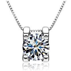 New arrivals high quality AAA super shiny zircon & 925 sterling silver ladies`necklaces jewelry wholesale(China (Mainland))