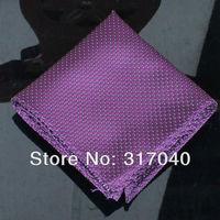 Free Shipping Marriage Hankerchiefs Men's Dk Purple Dots hanky /party hankies/pocket squares