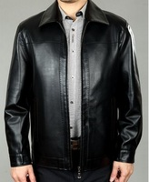 13 new casual leather jacket motorcycle leather fashion leisure entertainment business trend of the new coat
