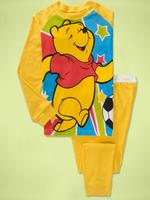 in stock Baby Girls and boys Long Sleeves Pajamas 2pcs set Suit yellow winnie design underwear baby sleepwear 6sets/lot