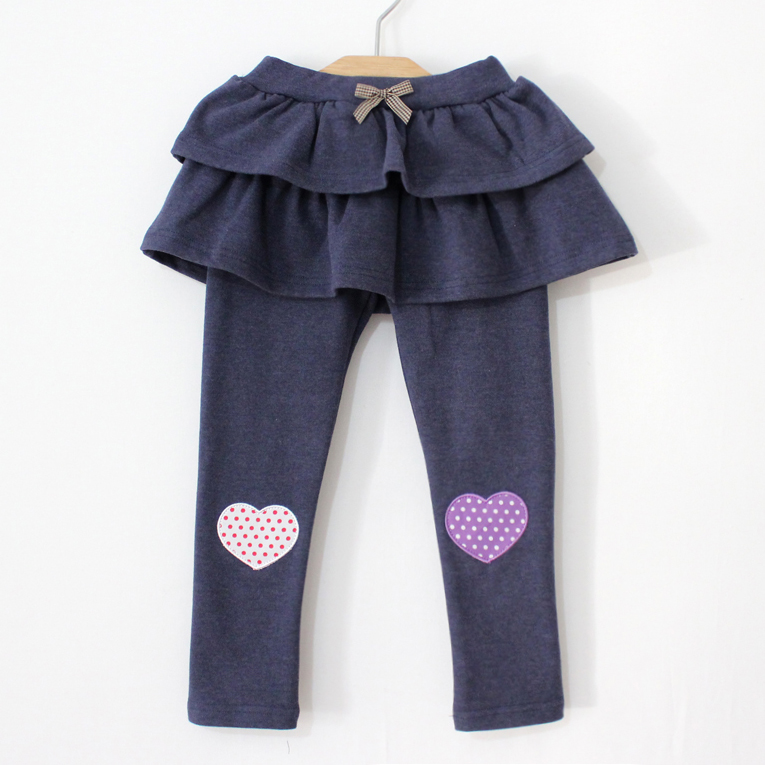 Girls clothing culottes boot cut jeans child baby skirt legging puff skirt layered dress(China (Mainland))