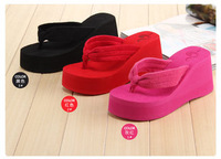 HOT Sale ! 2014 new Korea Fashion Summer women's platform ultra high platform heels beach towel flip flops shoes