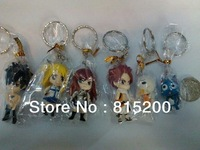 Free shipping Fairy tail keychain 6pcs/set