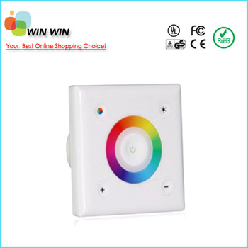 12V -24V 3A *3 channel Wall Mounted LED RGB Touch Controller Free shippping