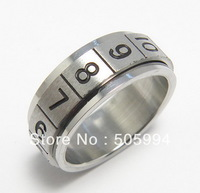 36pcs/Lot Stainless Steel Magic Poker Spinning / Rotate Jewelry Rings,Free shipping
