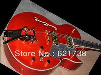 best hot Musical Instruments Custom Shop jazz ES-335, Stop bar mauve Electric Guitar in stock HOT