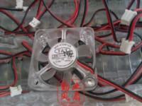 FANS HOME Rouge blue light fan 4010 4cm transparent fan quieten 12v 0.09a
