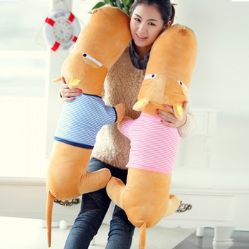 Stuffed toy doll big head dog cushion lovers pillow cloth doll dog 1.4 meters