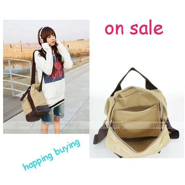 Korean lady Casual Cavan Shoulder Backpack Hand Multi SATCHEL Bag Purse(China (Mainland))