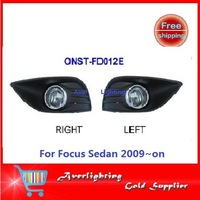 Free shipping with button & wires Fog Light FOR Ford Focus Sedan 2009~on