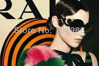 2013 HOT SALE Free Ship New Arrival Designer Inspired Round High Fashion Sunglasses Women Baroque Swirl Arms Retail Sunglasses