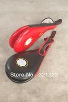 Free Shipping High Quality PU Leather Taekwondo TKD wrist strap Portable Double Paddle Kicking Target