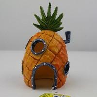 "14cm / 6"" H SpongeBob Pineapple House Home Fish  Aquarium Ornament Decor Resin Decoration"