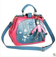 Free Shipping ! 2013  fashion lady bags,women handbags ,with PU leather ,  TM-093
