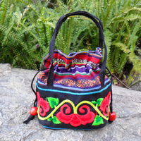 Dongba lijiang cloth fabric cross stitch handbag embroidered handbag coin bag cosmetic bag