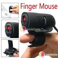 Mini USB 3D Optical Finger Mouse Ring Mice for Laptop [553|01|01]