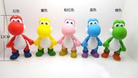 20pcs 5 inch PVC Super Mario Bros Luigi donkey kong Action Figures yoshi 5 colors mario Gift OPP retail