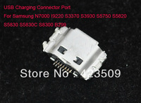 100pcs/lot USB charging connector Port For Samsung N7000 I9220 S3370 S3930 S5750 S5820 S5830 B299 (Free shipping post)