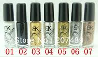 14 Colors 5ml Neon Nail liner brush line pen striping Art Polish Nail Varnish art decorations care beauty