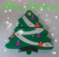 Wholesale Cheap Enough Cartoon Christmas tree 4GB 8GB 16GB 32GB 64GB USB 2.0 Flash Memory Stick Drive Free Shipping +Drop Shippi