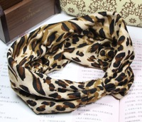 Free shipping wholesale leopard design soft cloth hair bands turban women elastic headband women girls hair hoop headwrap