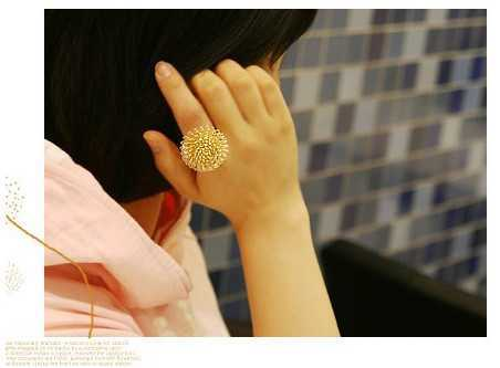Hot Sale Korean Jewelry The Lovely Personality Dandelion Daisy Alloy Fashion Rings For Women(China (Mainland))