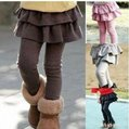 Free shipping Girl Leggings Tights with Skirts Baby girl Cake skirt pants all colors in stock