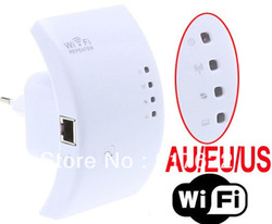 Wireless-N Wifi Repeater 802.11N/B/G Network Router Range Expander 300M 2dBi Antennas Signal Boosters Free Drop Shipping(China (Mainland))