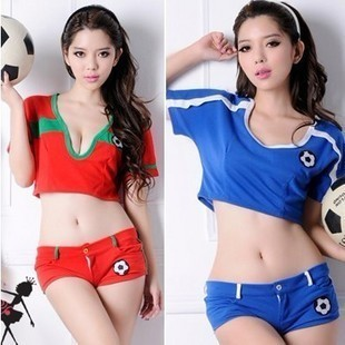Sexy lingerie GIRLS GENERATION football jersey cheerleading clothes jazz dance ds Costumes  Free shipping