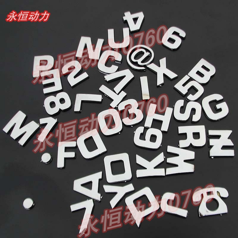 Motorcycle personality letter stickers motorcycle refit car stickers digital combination stickers - 2(China (Mainland))