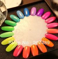 20 Colors 7ML charm Fluorescent Neon Nail Art Polish Glow in Dark Nail Varnish Hot wholesale