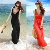 Bohemia style full dress beach fashion ultra long paragraph one-piece dress