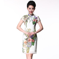 Summer cheongsam fashion design 2013 short cheongsam dress vintage g61671