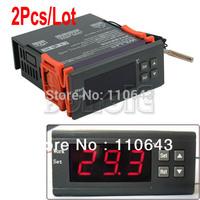 2Pcs/Lot LCD Digital Thermostat Regulator Temperature Controller with Probe 12V  TK0474