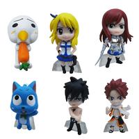 Wholesale 10set Anime Fairy Tail PVC Figure Model (6 pcs/set) Natsu / Gray / Lucy / Erza Retail