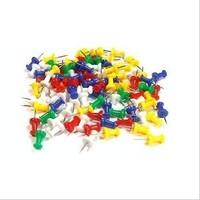 New Arrival Wholesale 3000pcs/lot Black Officemate Push Pins Plastic Top Thumbtacks Thumb Tacks Map Pin Stickers Pushpin