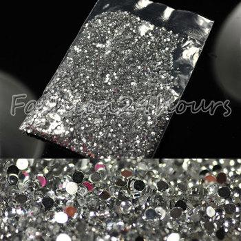 20000pcs / пакет 1.5mm Ясно украшения ногтей горный хрусталь украшения Блеск для мастеров Советы украшения