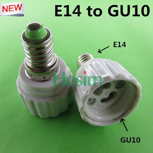 10pcs E14 to GU10 lamp holder converters, LED Halogen Light Bulb Lamp Socket Adapter Holder Converter & Free shipping(China (Mainland))