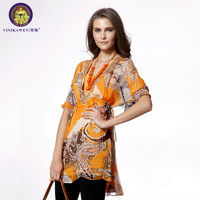 Original design women's vinikawen 2013 plus size chiffon shirt long top female