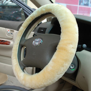 Super soft plush steering wheel cover car plush auto upholstery decoration supplies exhaust pipe