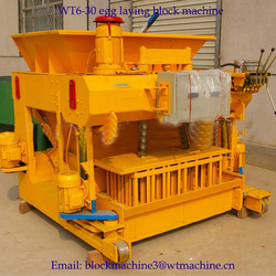 Concrete block making Machines copper slag bricks machine Siemens motor sytem WT6-30(China (Mainland))