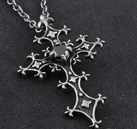 Hip hop style steampunk gothic cross shape necklace free shipping